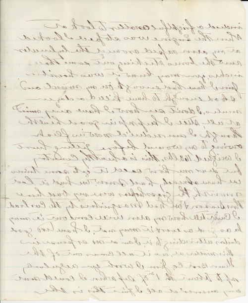 MSS 589 p2, Steamboat injury, left hand letter, 1878