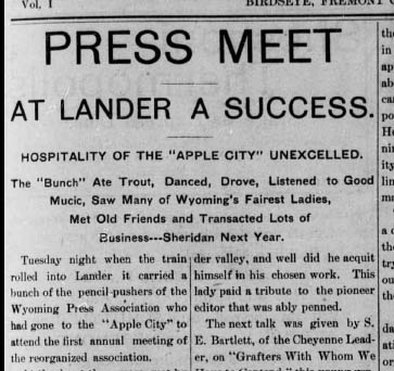 The town of Lander's promotional campaign was in full in 1904 when they hosted a